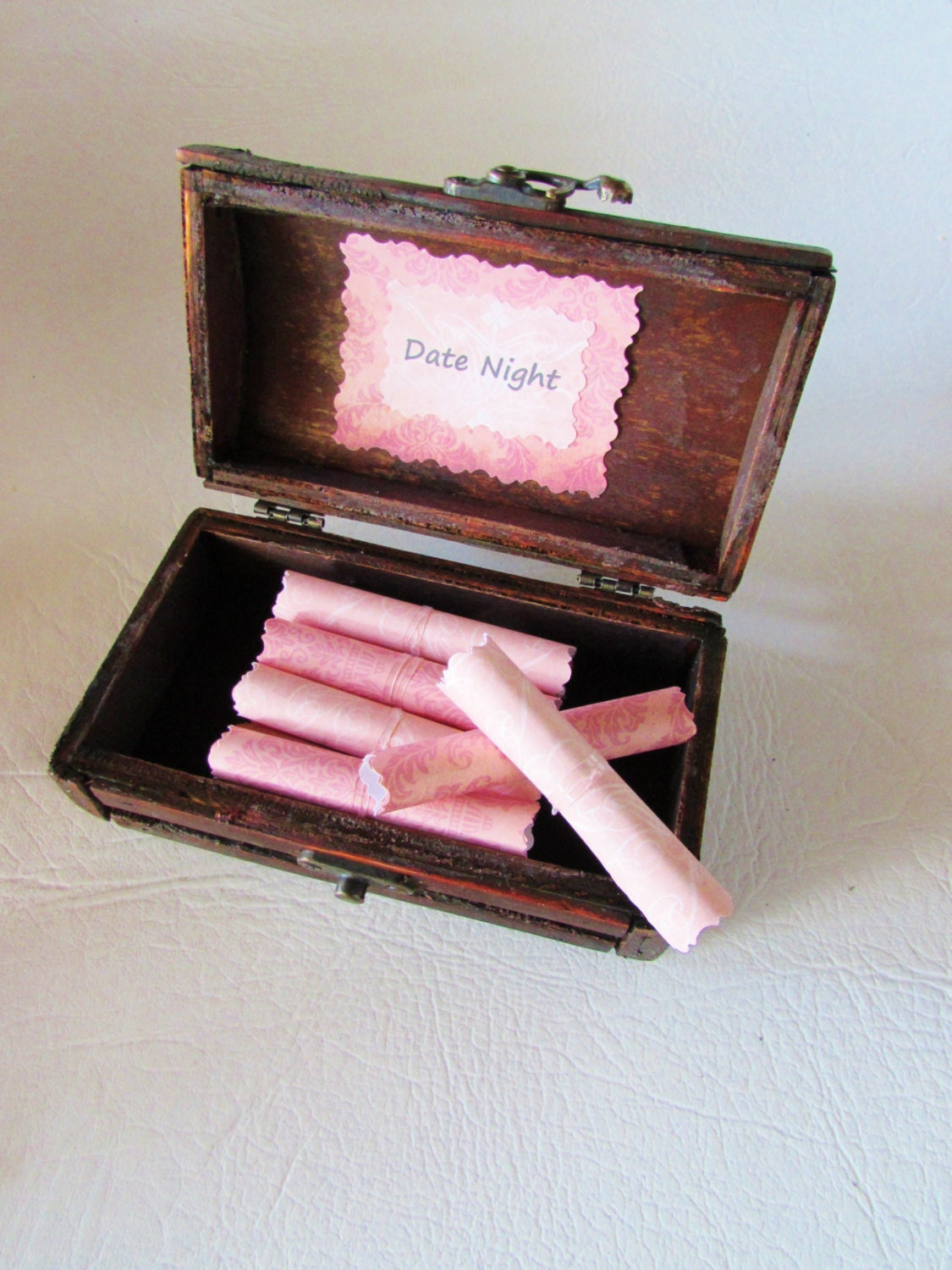 The Date Night Scroll Box Romantic Ideas In A Beautiful Wood
