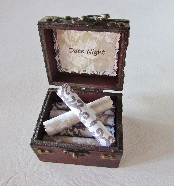 Girlfriend Anniversary Gift Birthday Idea Wife Date Night Scroll Box Dates