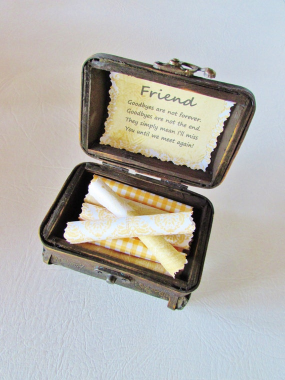 Friendship Goodbye Quote Treasure Chest