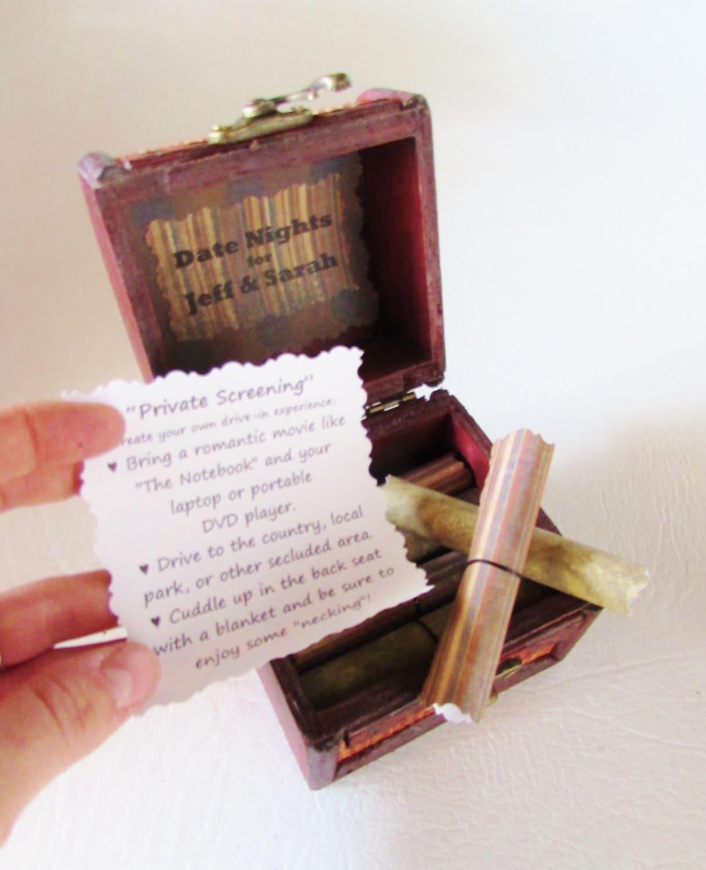Boyfriend Birthday Gift, Date Night Scroll Box, Boyfriend