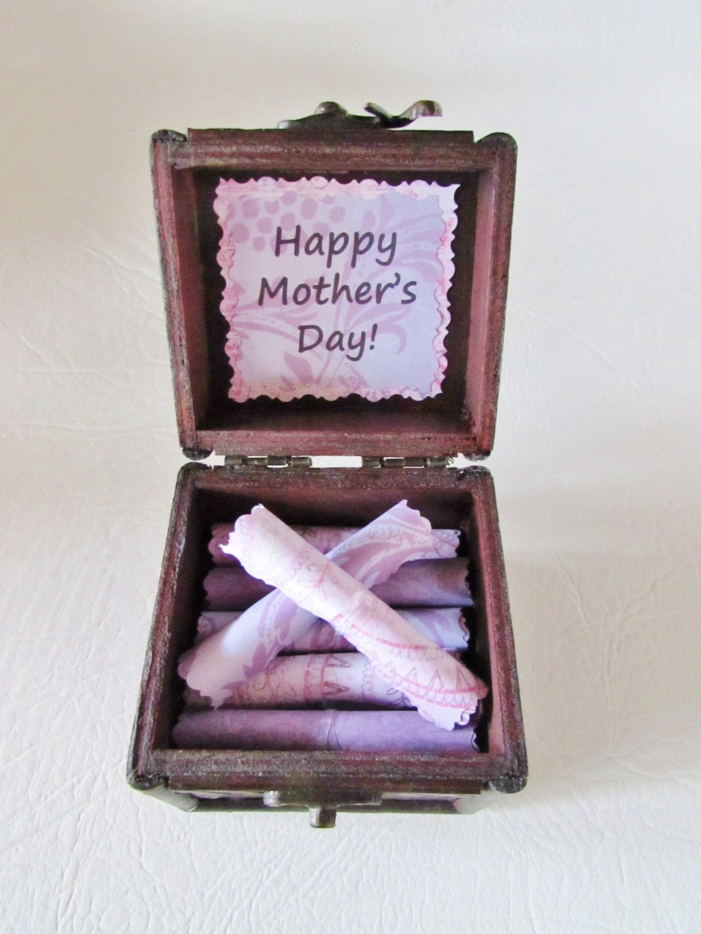 Happy Mothers Day Scroll Box Sweet Quotes About Moms In Wood