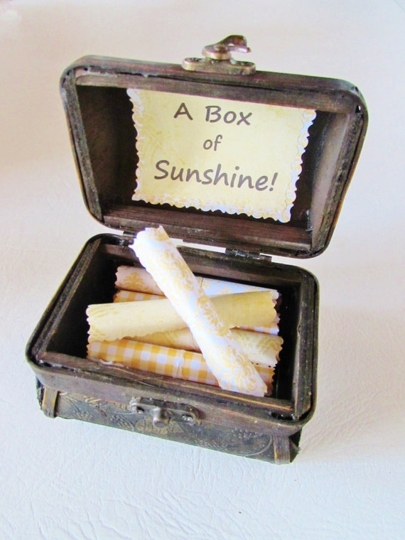 Sister Gift, Gift for Sister, A Box of Sunshine, Inspirational Quotes in Wood Chest, Sister Card, Sister Jewelry, Sister Personalized
