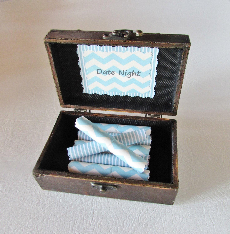 Date Night Scroll Box Birthday Gift Anniversary Boyfriend