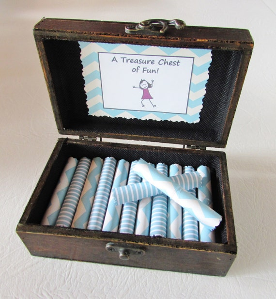 A Treasure Chest of Fun for HER, Date Night Ideas AND Sexual Favors in Wood Chest, Valentines, Birthday Gift, Anniversary Gift, Coupon Book,
