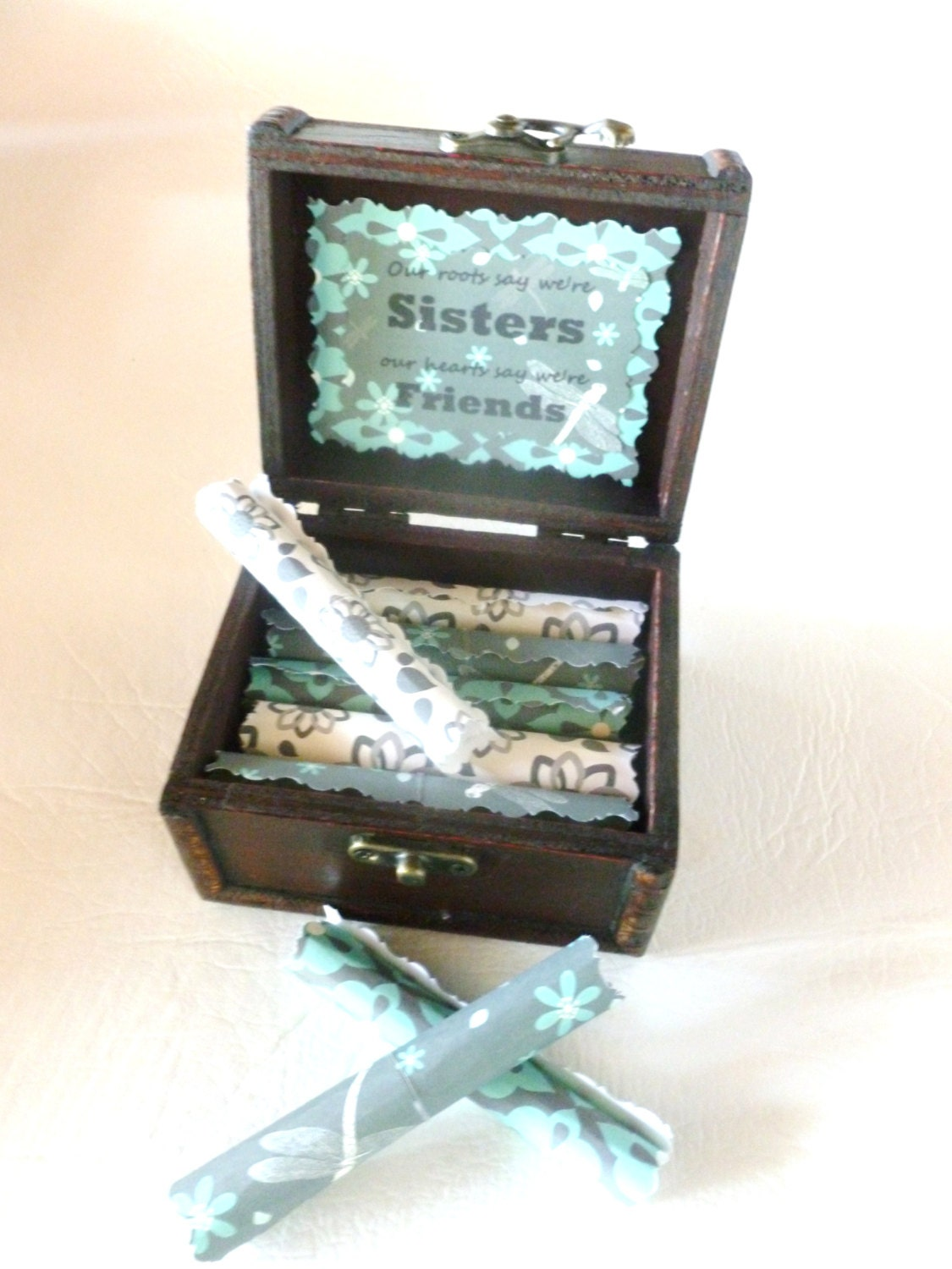 Sister Birthday Gift Scroll Box Quotes In Wood Chest Christmas Idea Twin