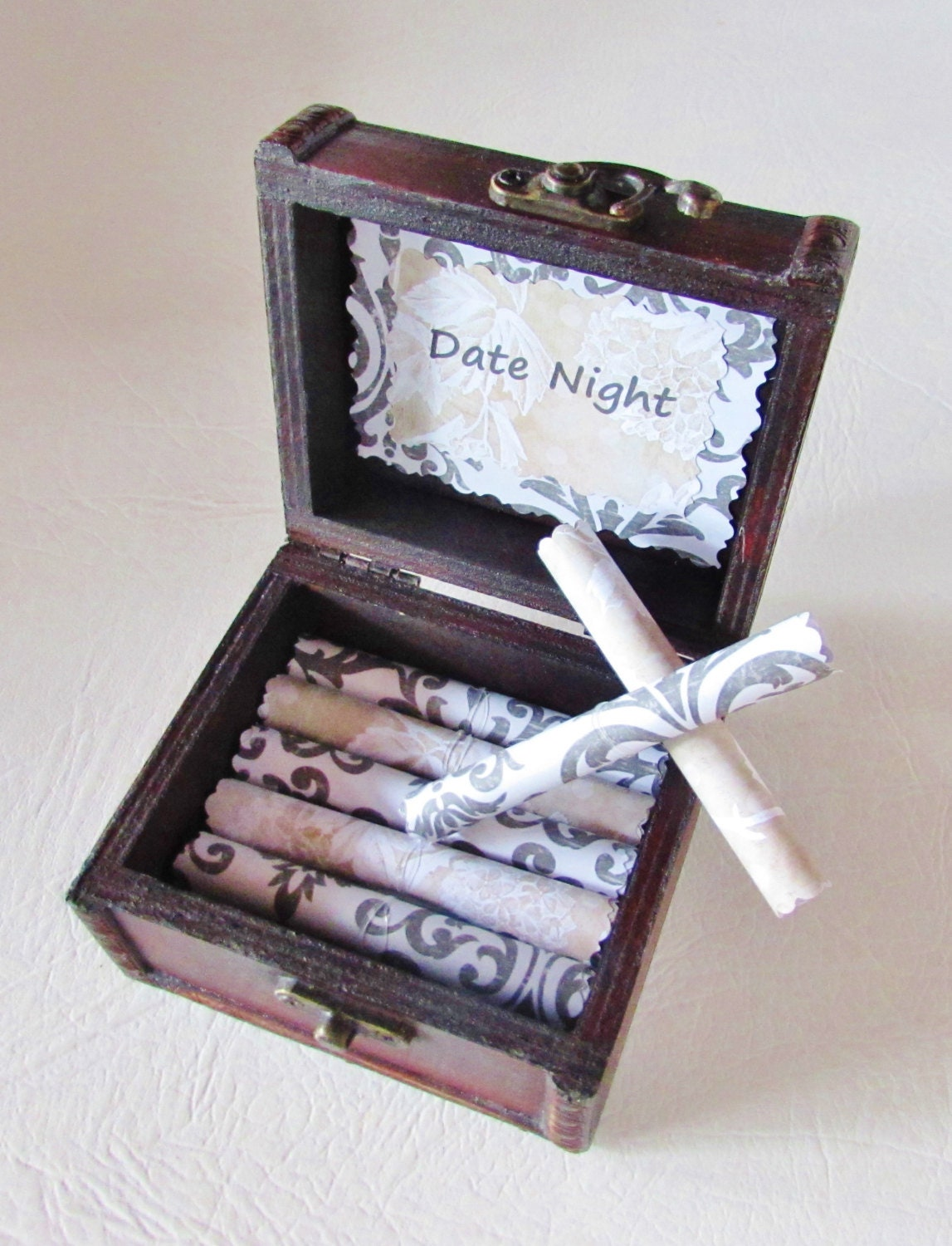 Girlfriend Birthday Gift Wife Date Night Scroll Box