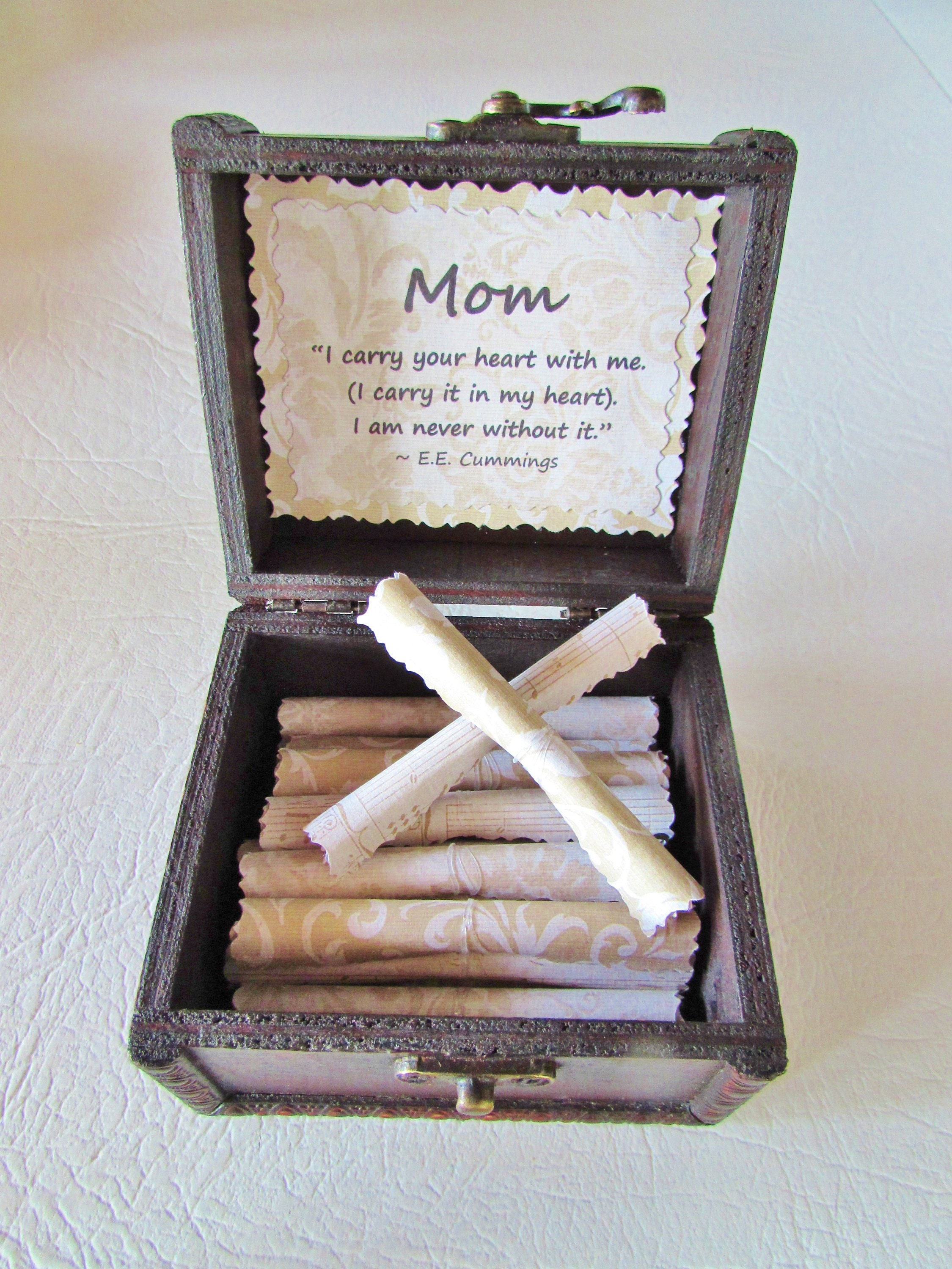 Mom Gift Sweet Quotes About Moms In A Beautiful Wood Box