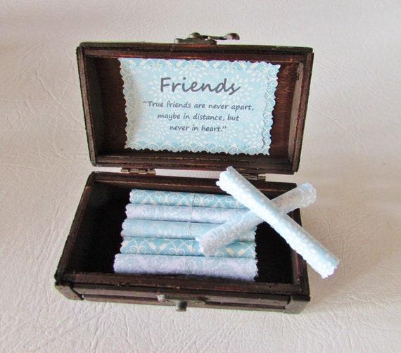 Friend Goodbye Gift, Friend Going Away Gift, Long Distance Friend, Rainbow Gift, Best Friend Gift, Friend Quotes in Wood Box, Best Friend