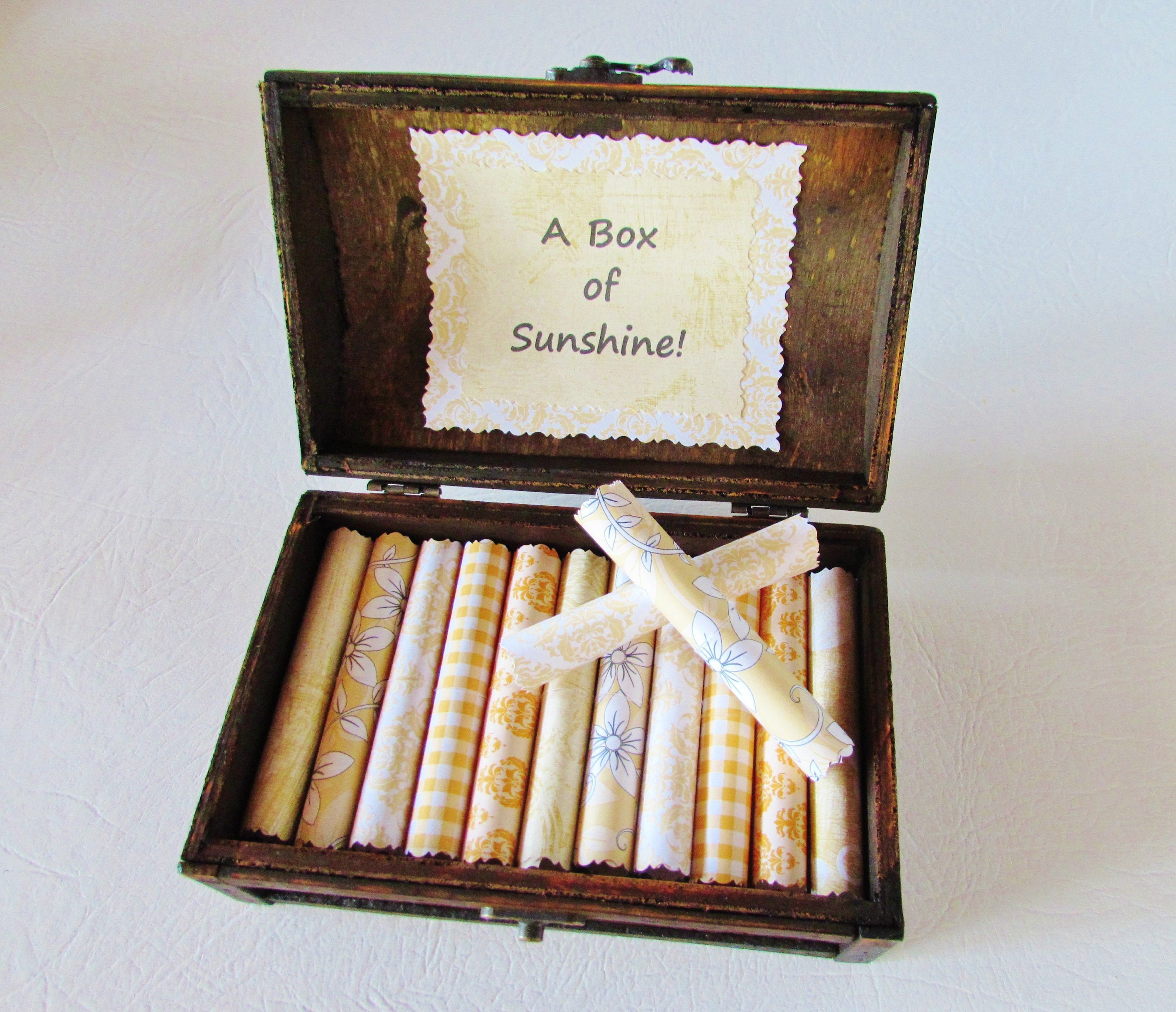 A Box of Sunshine, Sunny Inspirational Quotes, Get Well Gift