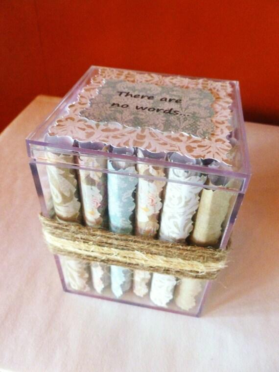 Stillbirth, Baby Memory Gift, Baby Loss Scroll Box, Sympathy Quotes, Stillborn, Miscarriage, Sympathy Card, Memory Box, Grief, Bereavement