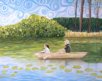 Custom Original Landscape Art Painting on wood canvas....Picture your favorite spot, beach house, lake, forest, cabin, wedding gift