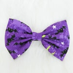 Purple Bows With Black Bats for Halloween - Hair Clip Bow - Bows - Hair Accessories   LIMITED EDITION