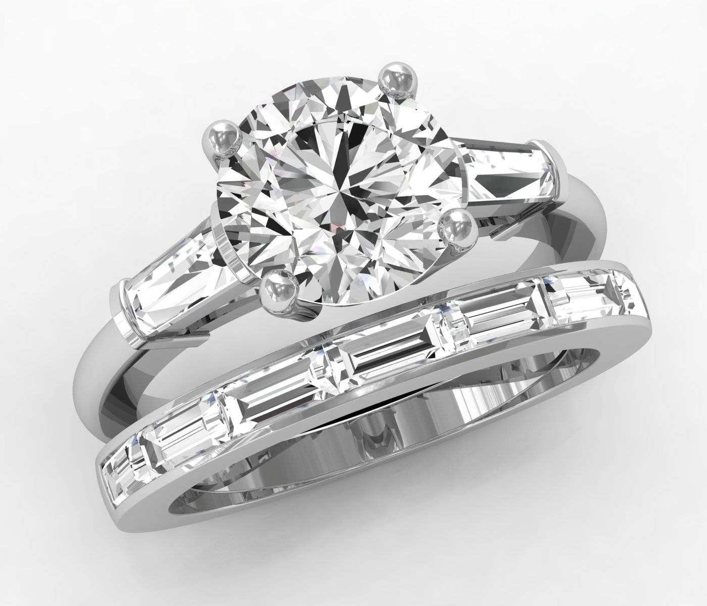 in p wedding three classic platinum shop stone set engagement ring for diamond