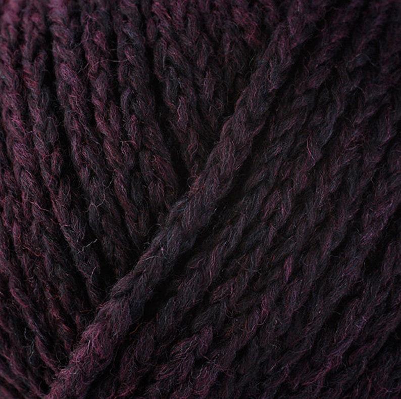 Berroco Catena Amethyst 5460 Dark Purple Bulky Merino Nylon blend Yarn