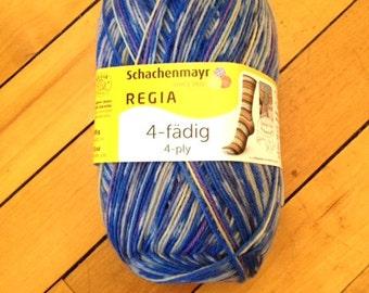 Arne and Carlos Regia Design Line Edition 2 4 ply self striping Sock Yarn- Island 3765