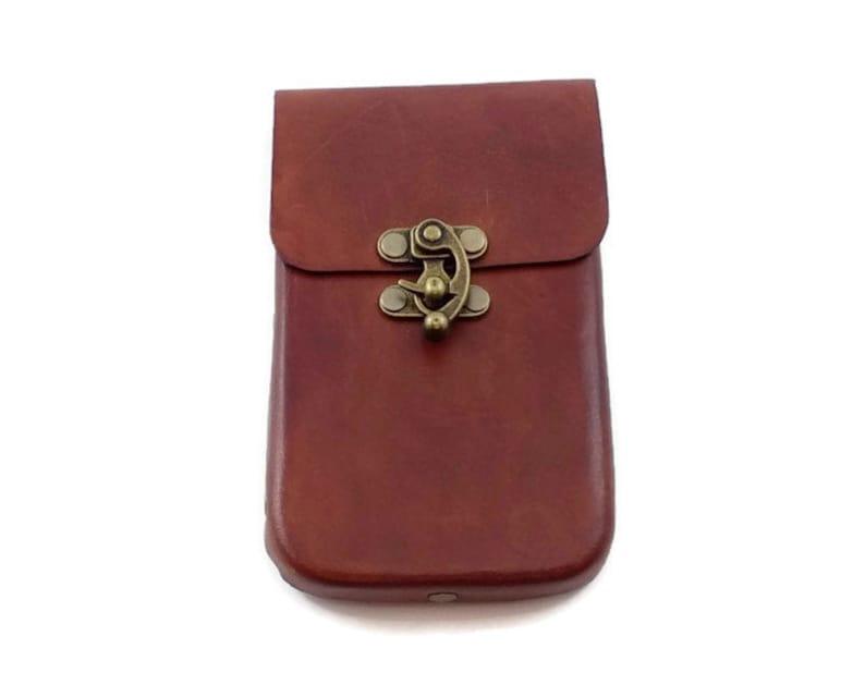 Brown Leather Classic Phone Case for Medium Phones image 0