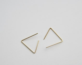 Gold plated Geometric Earring Simple Modern Triangle Finding