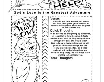 Be a Wise Owl Bible Journaling Printable
