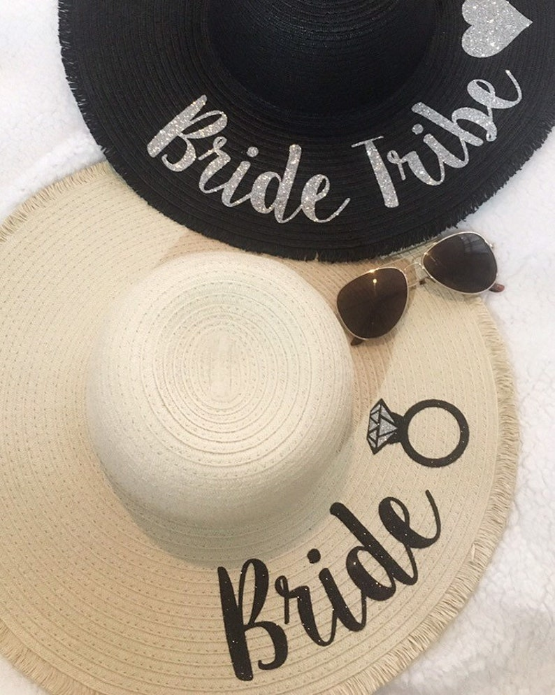 e155570cdf7 Glitter name personalised frayed edge floppy sun hat beach