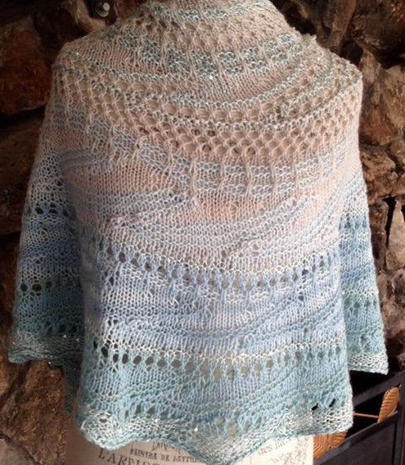 LOVELY Merino cashmere jeweled silk combination of Fiber Art hand painted by ARTYARNS.