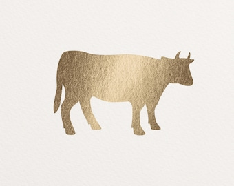 Real Gold Foil Meal Selection Sticker, Beef, Chicken, Seafood, Lamb, Vegetarian - 20 per sheet