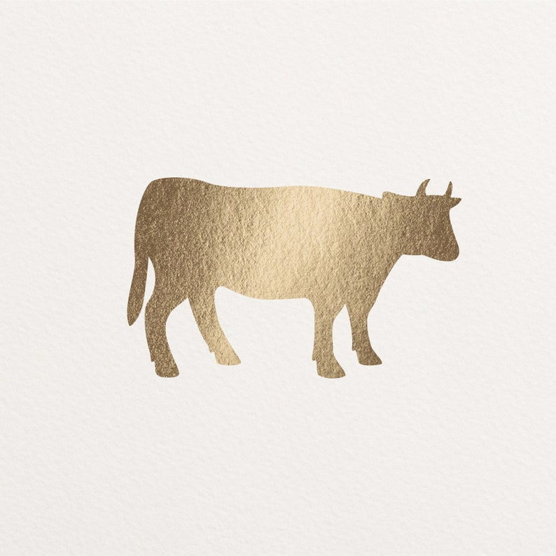 Real Gold Foil Meal Selection Sticker Beef Chicken Seafood Beef / Steak