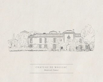 Custom Venue Illustration - Digital artwork for letterpress and printing