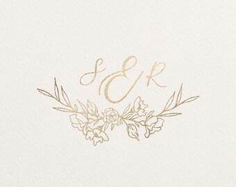Custom 3 Letter Monogram Wedding Save the Dates, Invitations - Digital File