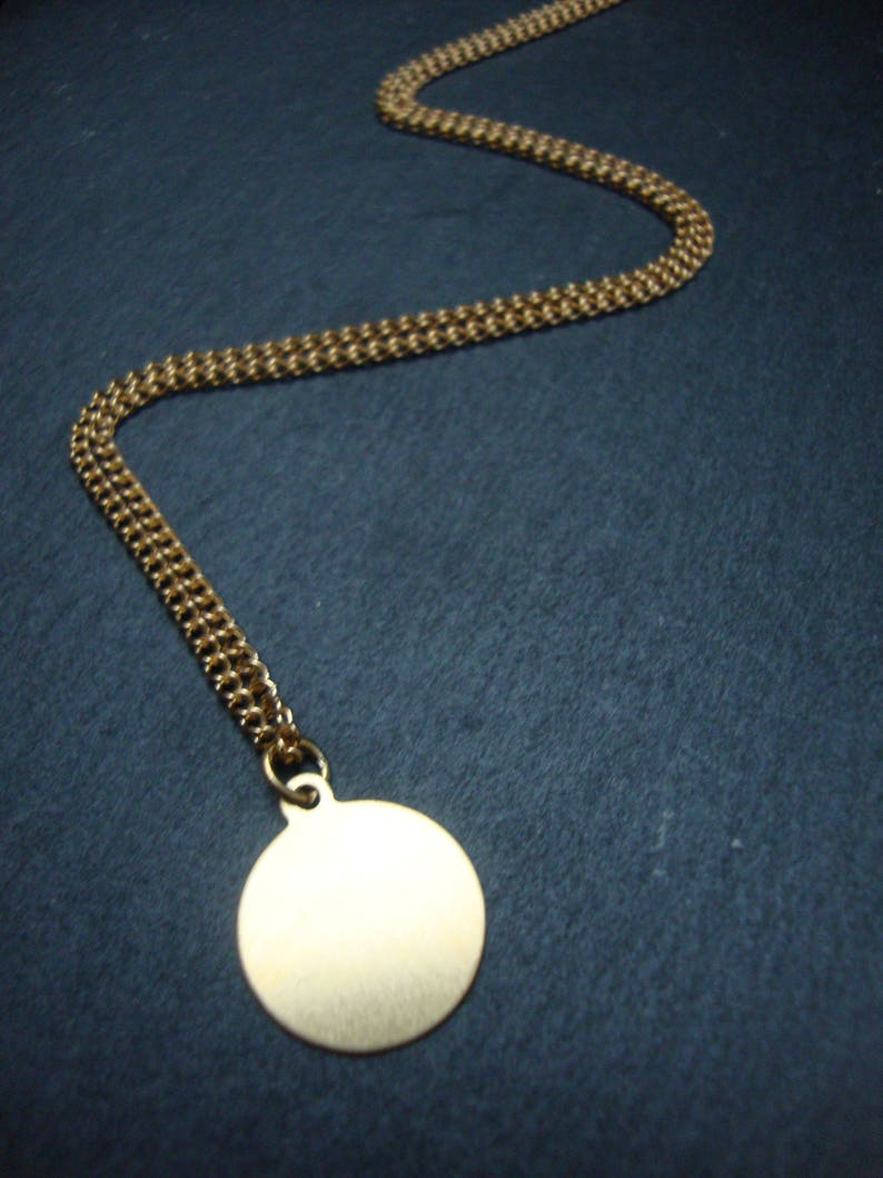 Coin necklace blank 24 inch personalised