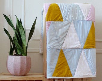 Custom Made Triangle Baby Quilt