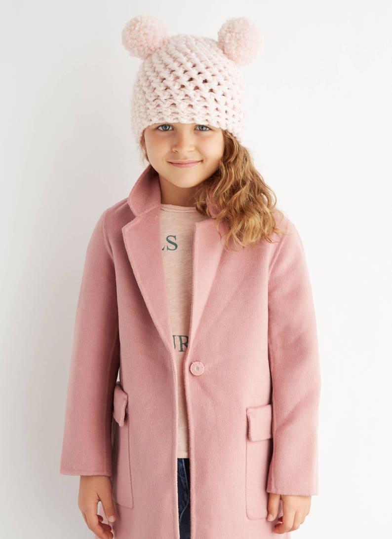 1ad42b2ed82 Kid s Light Pink Double Pom Pom Hat