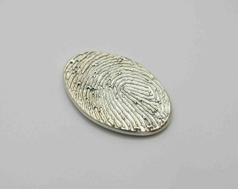 Personalized fingerprint jewelry by atimelessimpression on etsy fingerprint jewelry silver fingerprint oval charm fingerprint charm fingerprint pendant personalized keepsake memorial solutioingenieria Gallery