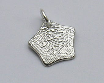 Personalized fingerprint jewelry by atimelessimpression on etsy fingerprint jewelry silver fingerprint star star fingerprint charm star fingerprint necklace personalized jewelry memorial keepsake solutioingenieria Gallery