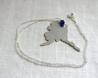 Hand Stamped I Love Alaska Necklace