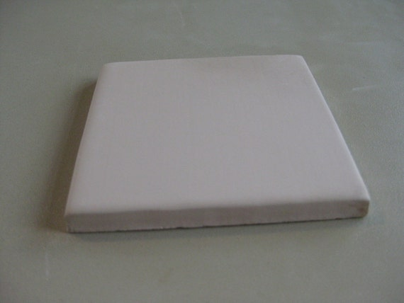 Bisque Blank White Ceramic Tiles Project Pack Unfinished Square Art Craft Ready to Create 6, 5 White