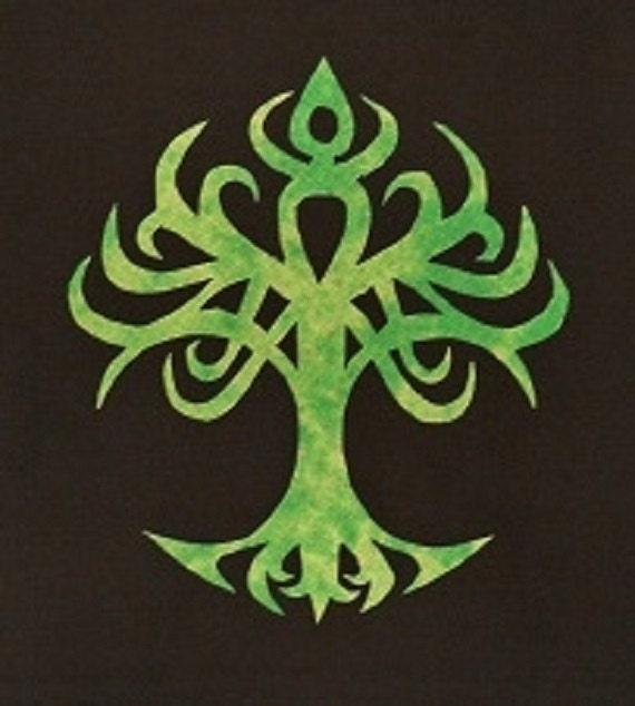 Easy Celtic Tree Of Life Quilt Applique Pattern Design Etsy