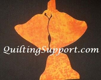 3 Bells Quilting Applique Pattern Design