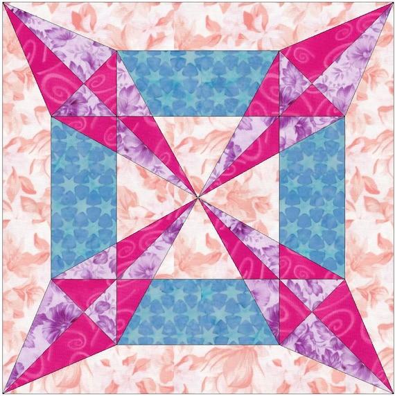 sedona star paper template quilting block pattern pdf etsy