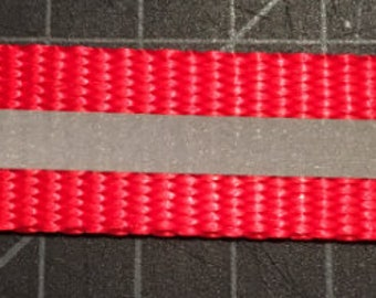 1 Inch Red Reflective Webbing