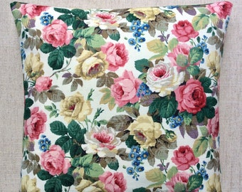 "Vintage Fabric Cushion ""Little Chelsea"" By Sanderson 40cmx40cm"