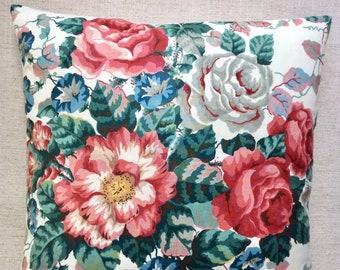 "Vintage Floral Fabric Cushion ""Grasmere"" By Ramm 40cmx40cm"