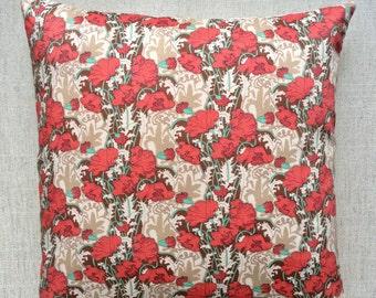 "Vintage Liberty Of London Fabric Cushion ""Clementina"" Tana Lawn 40cm x 40cm"