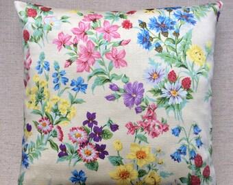 Vintage Floral Fabric Cushion By Betjeman 40cm x 40cm