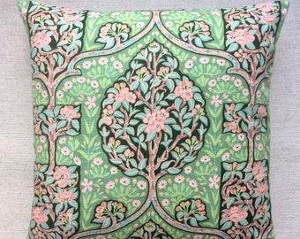 """Vintage Linen Fabric Cushion """"Terrace"""" By Sanderson 40cm x 40cm"""