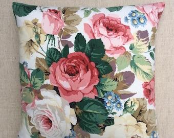 "Vintage Fabric Cushion ""Chelsea"" By Sanderson 40cmx40cm"