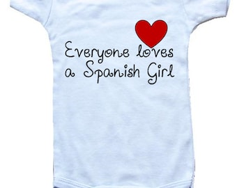 Spanish baby clothes etsy baby one piece body suit personalized gifts everyone loves a spanish girl negle Images