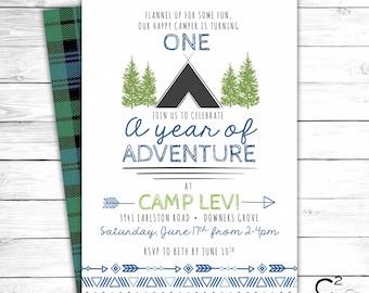 Camp Birthday Invitation