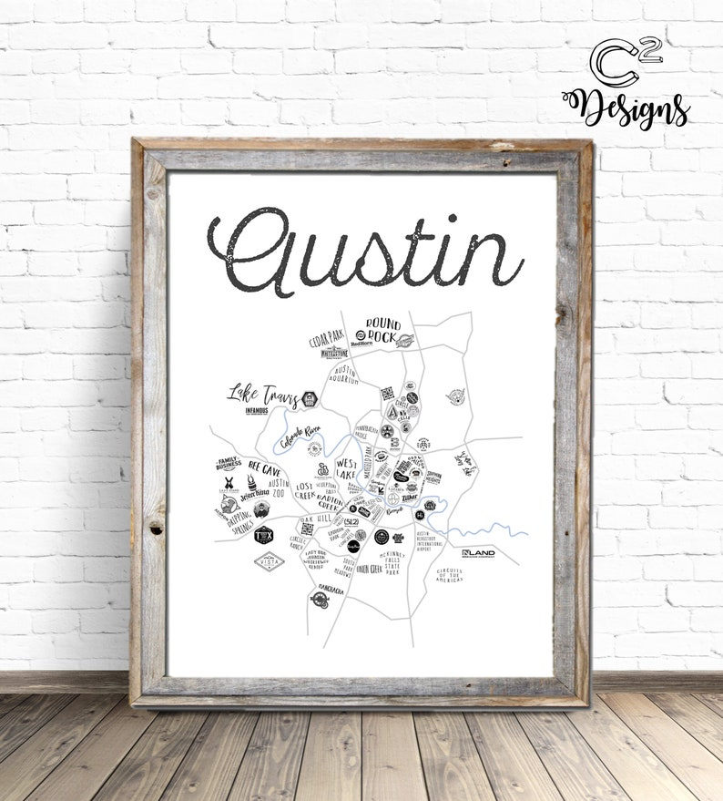 photo about Printable Map of Austin identified as Austin Map Austin, Texas Printable Indicator