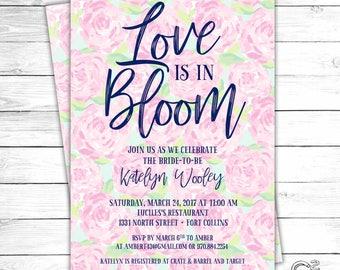 Love In Bloom Bridal Shower Invitation