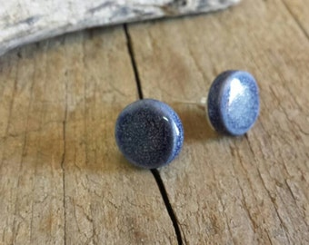 Ceramic lobe earrings